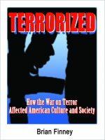 Cover for 'Terrorized: How the War on Terror Affected American Culture and Society'