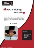 Cover for 'How to Manage Yourself'