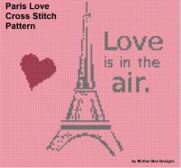 Cover for 'Paris Love Cross Stitch Pattern'