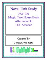 Cover for 'Novel Unit Study for the Magic Tree House Book Afternoon on the Amazon'