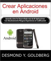 Cover for 'Crear Aplicaciones en Android'