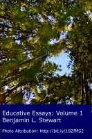 Benjamin L. Stewart - Educative Essays: Volume 1