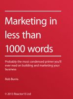 Cover for 'Marketing In Less Than 1000 Words'