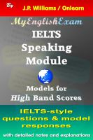 Cover for 'IELTS Speaking Module: Model Responses for High Band Scores'