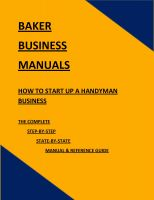 Cover for 'How To Start Up A Handyman Business'