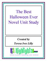 Cover for 'The Best Halloween Ever Novel Unit Study'