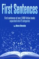 Cover for 'First Sentences'