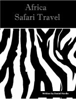 Cover for 'Africa Safari Travel'