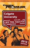 Cover for 'Colgate University 2012'