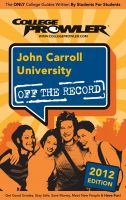 Cover for 'John Carroll University 2012'