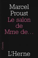 Cover for 'Le salon de Mme de...'