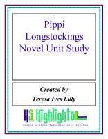 Cover for 'Pippi Longstockings Novel Unit Study'