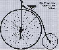 Cover for 'Big Wheel Bike Cross Stitch Pattern'