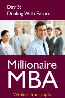 Cover for 'Millionaire MBA Day 5: Dealing With Failure'