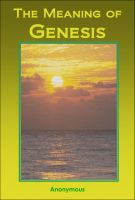 Cover for 'The Meaning of Genesis'