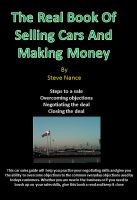Cover for 'The Real Book on Selling Cars and   Making Money'