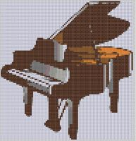 Cover for 'Piano Cross Stitch Pattern'