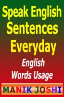 Cover for 'Speak English Sentences Everyday'