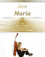 Cover for 'Ave Maria Pure sheet music for piano and soprano by Franz Schubert arranged by Lars Christian Lundholm'