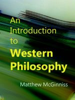 Cover for 'An Introduction to Western Philosophy'