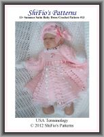 Cover for '13- Summer Satin Baby Dress Crochet Pattern #13'