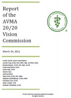 Cover for 'AVMA 20/20 Vision Commission Report'