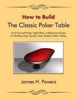 Cover for 'How to Build the Classic Poker Table'