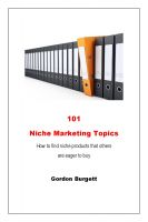 Cover for '101 Niche Marketing Topics'