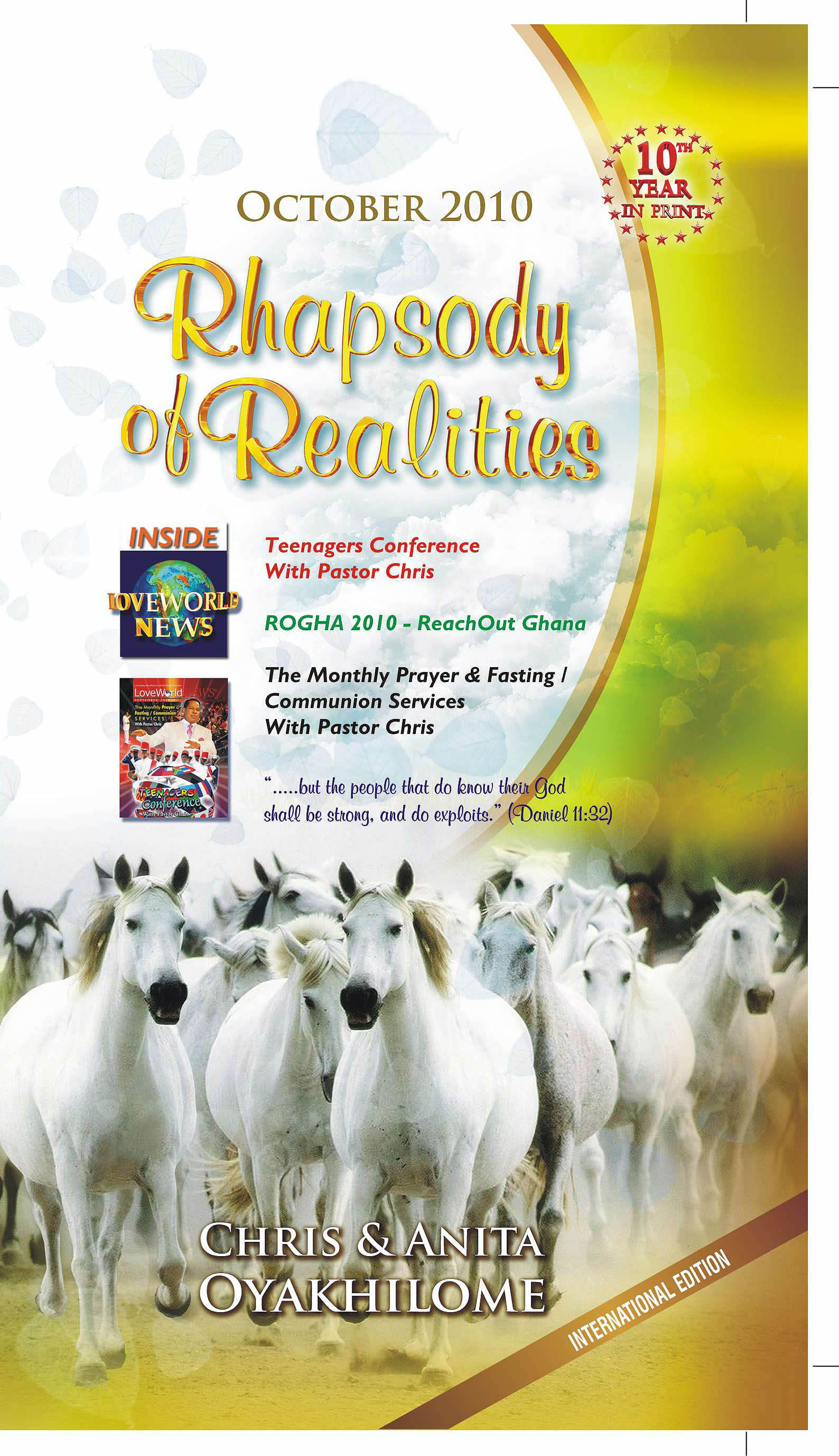 Pastor Chris and Anita Oyakhilome - Rhapsody of Realities October Edition