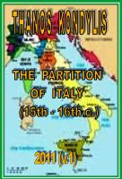 Cover for 'Τhe partition of Italy (15th -16th c.)'