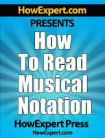 Cover for 'How To Read Musical Notation - Your Step-By-Step Guide To Reading Musical Notation'