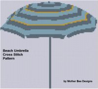 Cover for 'Beach Umbrella Cross Stitch Pattern'