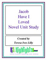 Cover for 'Jacob Have I Loved Novel Unit Study'