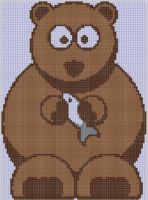 Cover for 'Bear and Fish Cross Stitch Pattern'