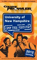 Cover for 'University of New Hampshire 2012'