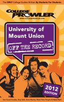 Cover for 'University of Mount Union 2012'