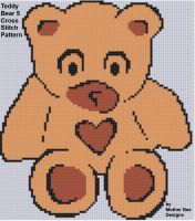 Cover for 'Teddy Bear 5 Cross Stitch Pattern'