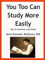 Cover for 'You Too Can Study More Easily: Tips for Dummies and Others'