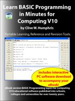 Cover for 'Learn BASIC Programming in Minutes for Computing V10'