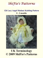 Cover for '126 Lacy Angel Matinee Jacket Knitting Pattern #126'