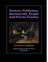 Cover for 'Doctors, Politicians, Bureaucrats, People And Private Practice.'