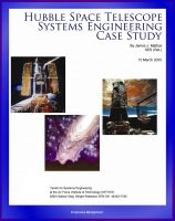 Cover for 'Hubble Space Telescope Systems Engineering Case Study - Technical Information and Program History of NASA's Famous HST Telescope'