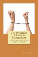 Cover for 'The Principles of Conflict Management'