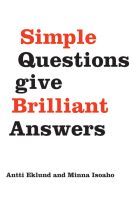 Cover for 'Simple questions give brilliant answers'