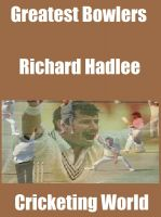 Cover for 'Greatest Bowlers: Richard Hadlee'