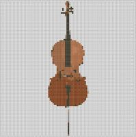 Cover for 'Cello Cross Stitch Pattern'