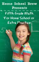 Cover for 'Fifth Grade Math (For Homeschool or Extra Practice)'