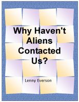 Cover for 'Why Haven't Aliens Contacted Us?'