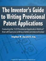 Help writing a provisional patent