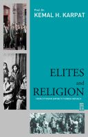 Cover for 'Elites and Religion'